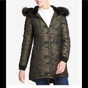 Faux fur Camo parka puffer jacket